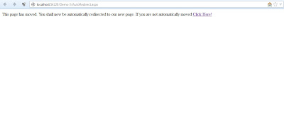 Vishal Ranjan: Auto-Redirect Page After Certain Time Period Using