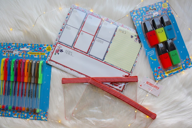 Home Bargains university stationery cheap