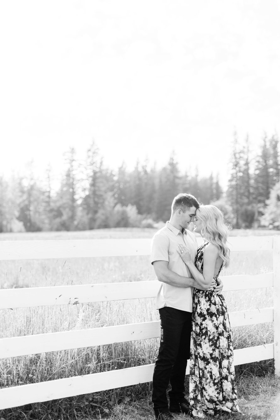 Black and White Ranch Engagement Photos by Something Minted