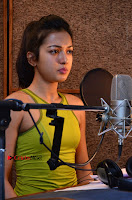 Actress Catherine Tresa Pos during Self Dubbing for Gautham Nanda Movie  0061.JPG