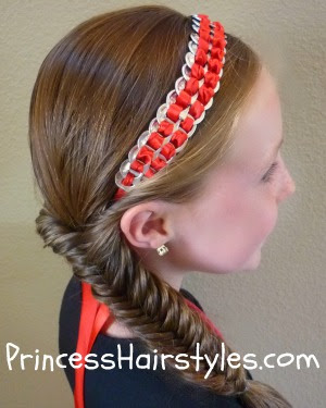 pop tab headband and fishbone braid