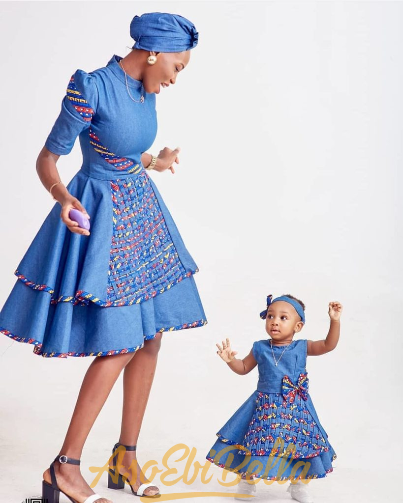 #EbFabLook Vol 48: Try This New Kids Aso-Ebi Style Worn From 10th-20th March 2019