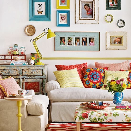 Colorful Boho Room: BOHO MARKET: Boho Chic Decor Ideas: Living Rooms