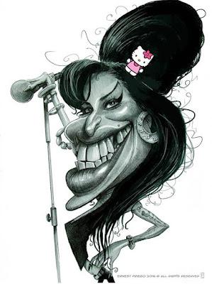 caricatura de cantante
