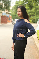 Poojita Super Cute Smile in Blue Top black Trousers at Darsakudu press meet ~ Celebrities Galleries 050.JPG