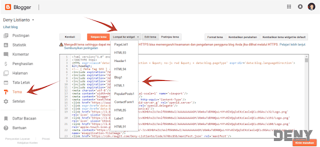 Menyembunyikan Widget di Halaman Tertentu Blogger