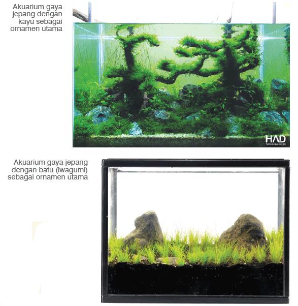 desain aquascape gaya Jepang