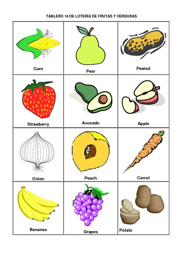 Imágenes Y Nombres De Frutas En Ingles Material Para
