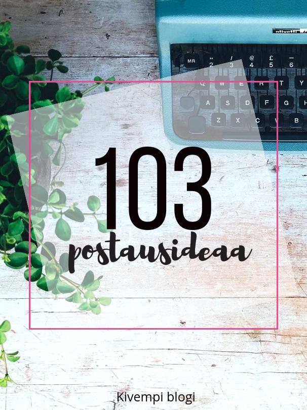 Mistä kirjoittaisit? 103 postausideaa