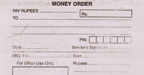 Money Order Service By India Post