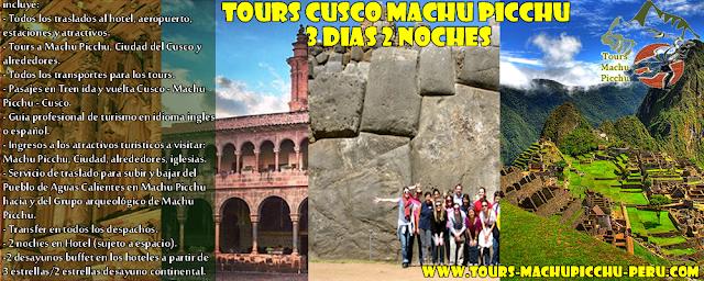 Tours Cusco Machu Picchu 3 Dias 2 Noches