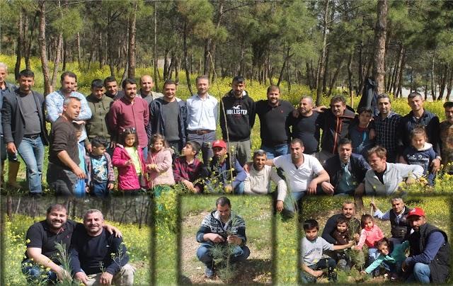 Su Haftasında Bozova'da ağaç diktiler