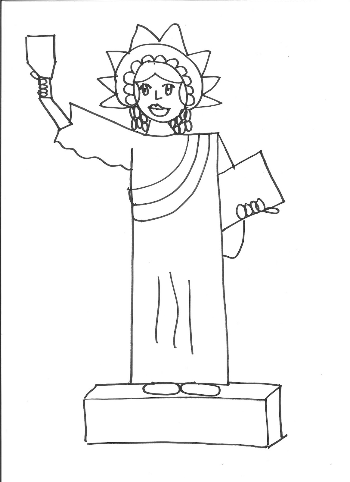 Statue Of Liberty Drawing Step By Step Outside the Box How I Taught First Graders to Draw the