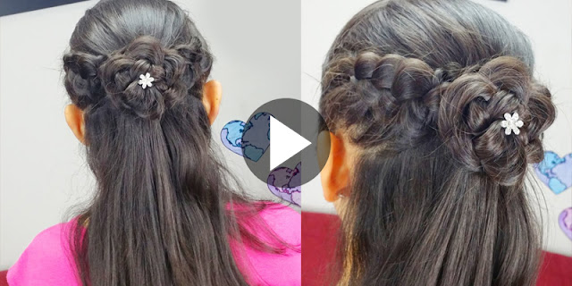 How To Make Flower Braided Hairstyle - See Tutorial