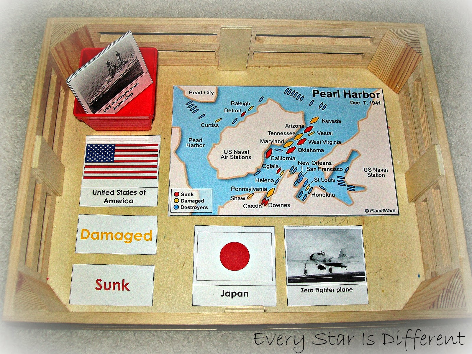 Attack on Peral Harbor Activity for Kids with Free Printable