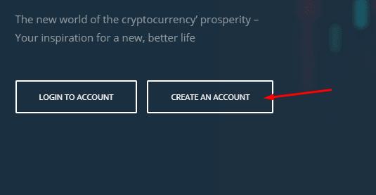 Регистрация в Cryptounity