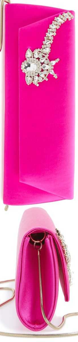 BADGLEY MISCHKA Aria Clutch Carmine Pink