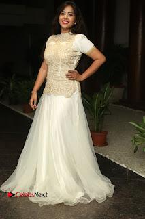 Actress Komali Stills in White Long Dress at Nenu Seethadevi Audio Launch  0190
