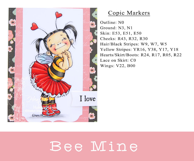 Heather's Hobbie Haven - Bee Mine Card