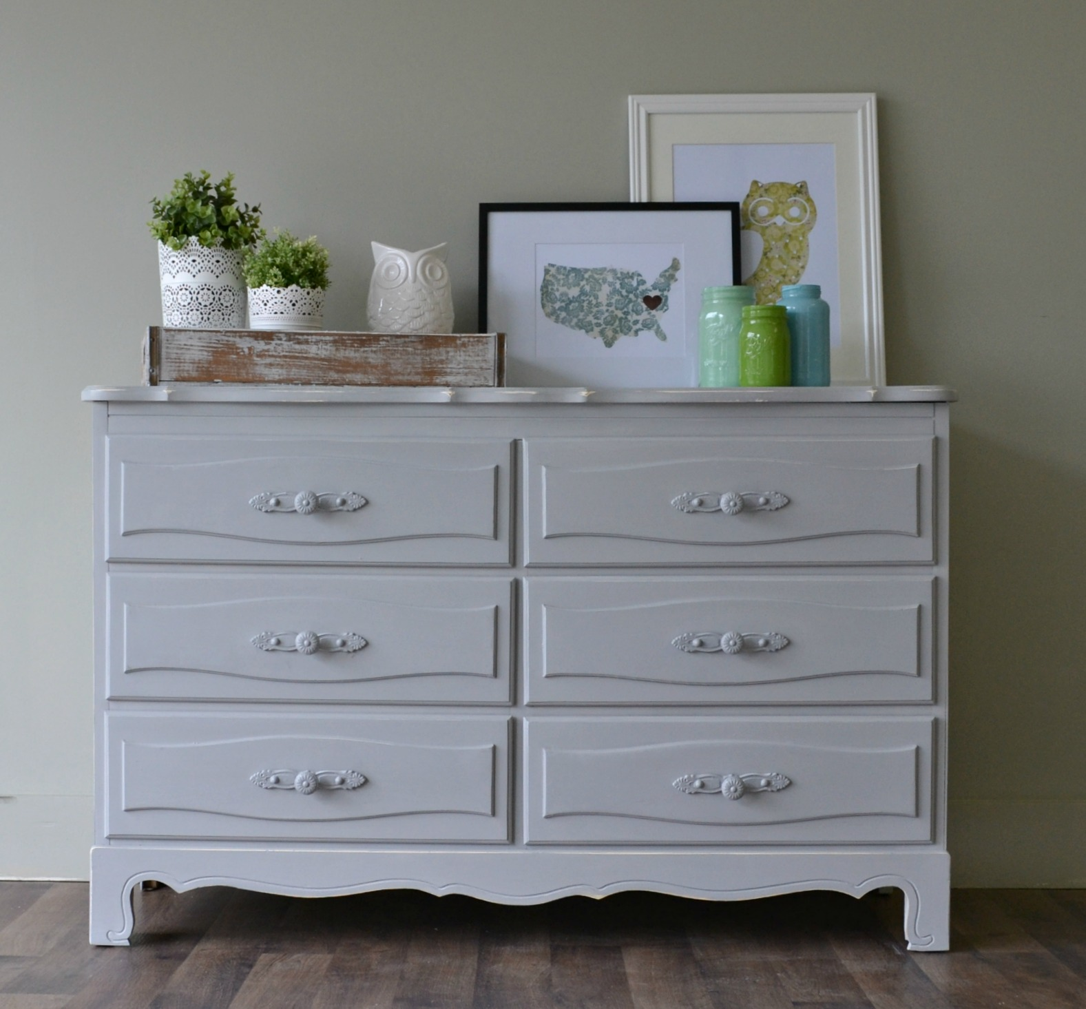 Popular Funky Junk: Curvy French Dresser with CHEVRON MR64