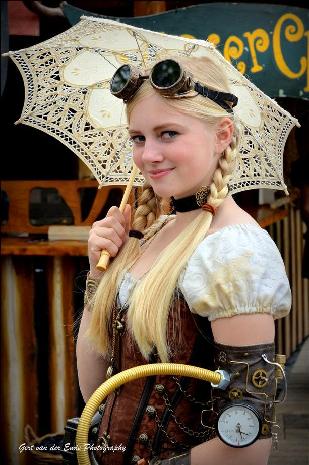 steampunk costume clothing goggles arm steam parasol umbrella