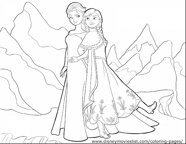 Beautiful Disney Frozen Coloring Pages With Nature Coloring Pages And Nature  Coloring Pages Pdf
