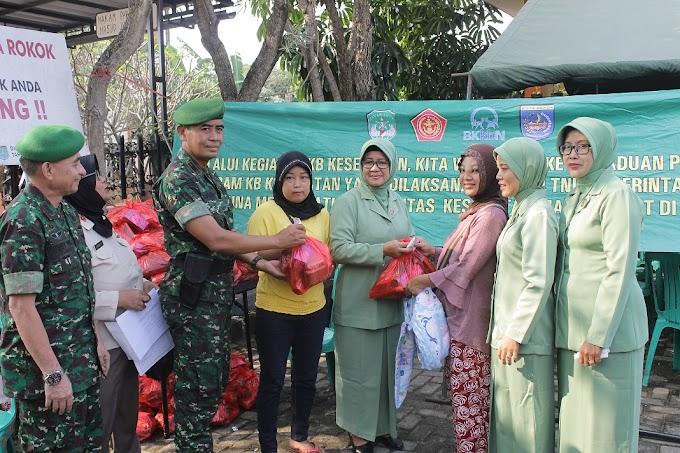 Program TMKK Koramil 01/Pancoran Mas Bantu Warga Ikut KB