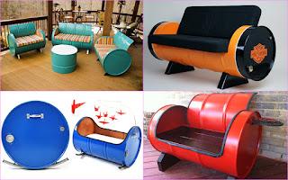 asientos con tanques de acero reciclados