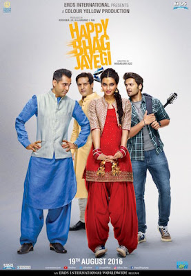 Happy Bhag Jayegi (2016) Hindi Movie Download HEVC Mobile 100MB
