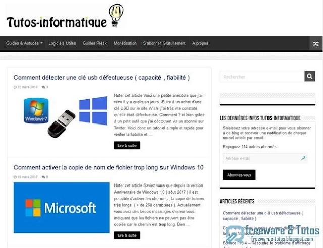 Le site du jour :  Tutos-informatique.com