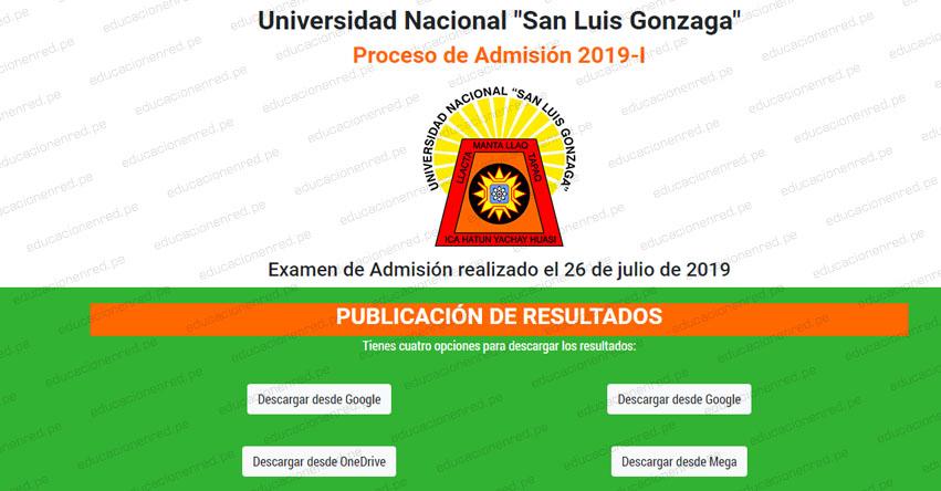 Resultados UNICA 2019-1 (Viernes 26 Julio 2019) Lista de Ingresantes - Examen Admisión Ordinario - Universidad Nacional San Luis Gonzaga de Ica - www.unica.edu.pe