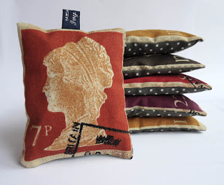 postage stamp lavender bag by Ivy Arch