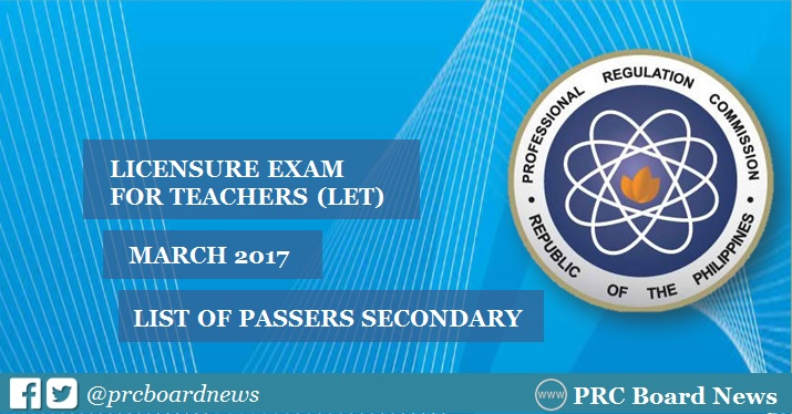 March 2017 LET Results released secondary level