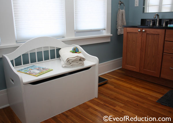 Tossed Toy Box Upcycled Into A Dual Purpose Bench Hamper