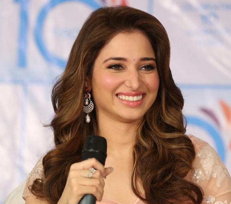 Bollywood Actress Tamannaah Long Hair Face Close Up Photos