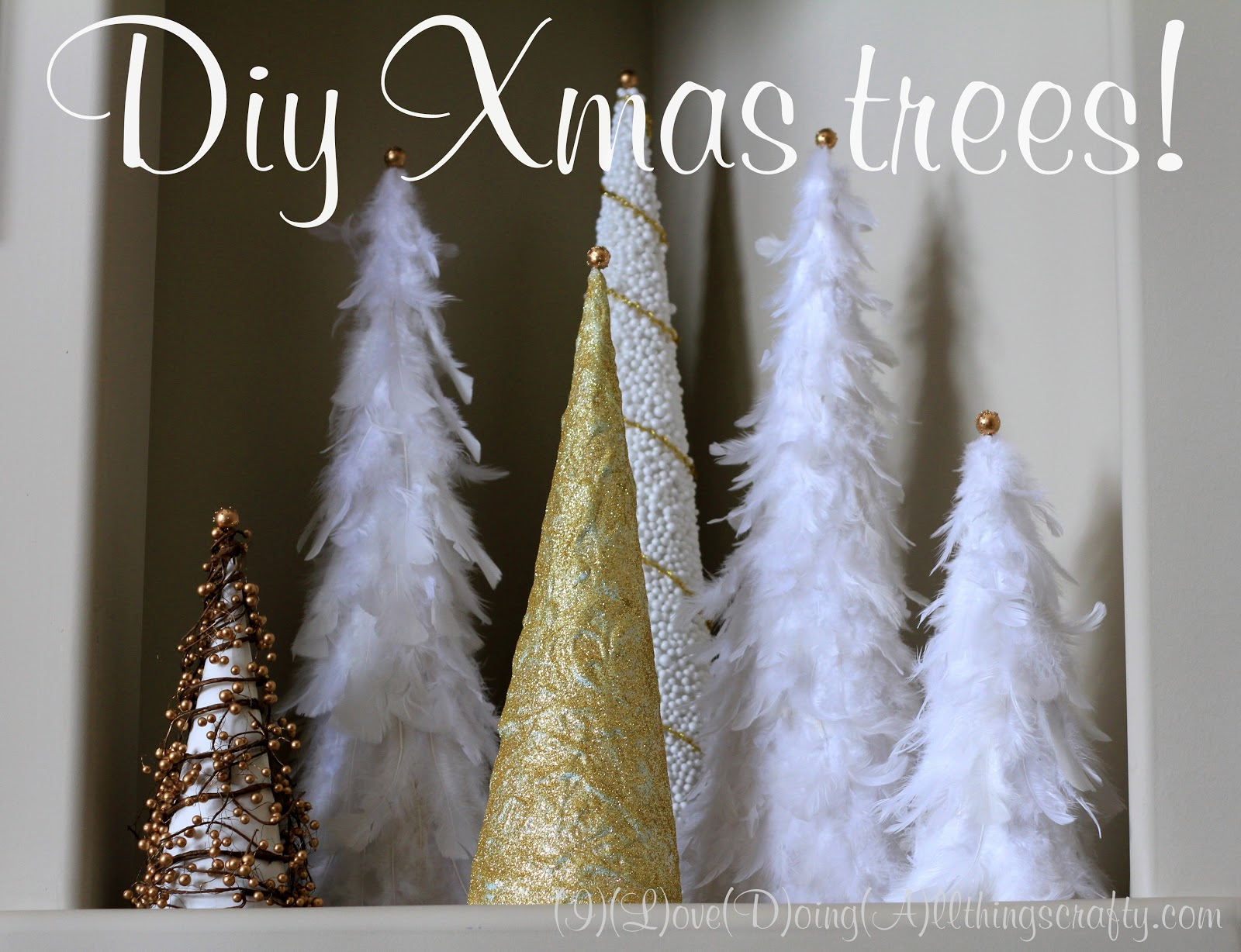 Diy Cone Christmas Trees.I Love Doing All Things Crafty Diy Xmas Trees