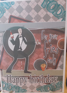 "For Your Fries only... Happy birthday 5"" x 7"" card"