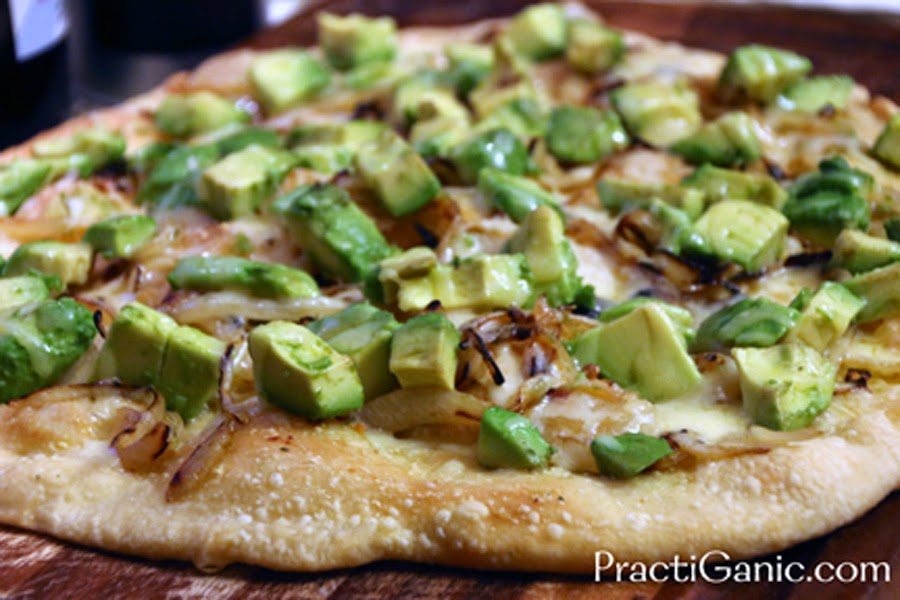 Avocado & Caramelized Onion Pizza - Baked
