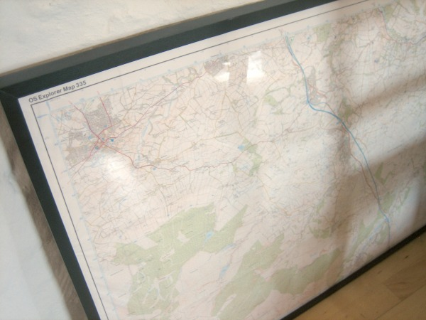 Framed OS Explorer Map - Our Handmade Home