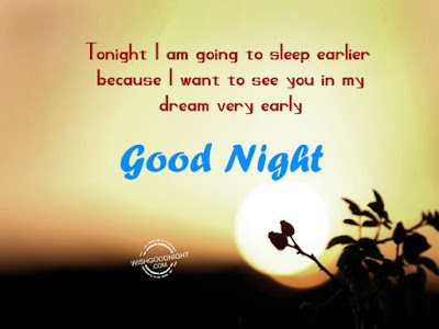 Romantic Good Night Love Quotes: tonight i am going sleep, because, i want to see you in my dream very early,