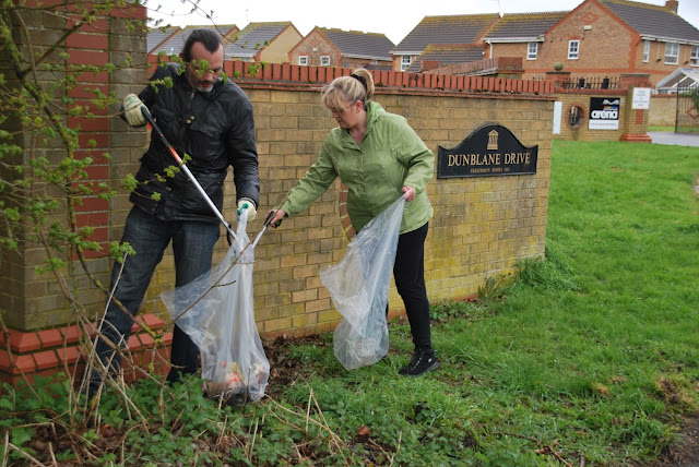 Alex Airey & Julie Howell, Orton Southgate Litter Pick