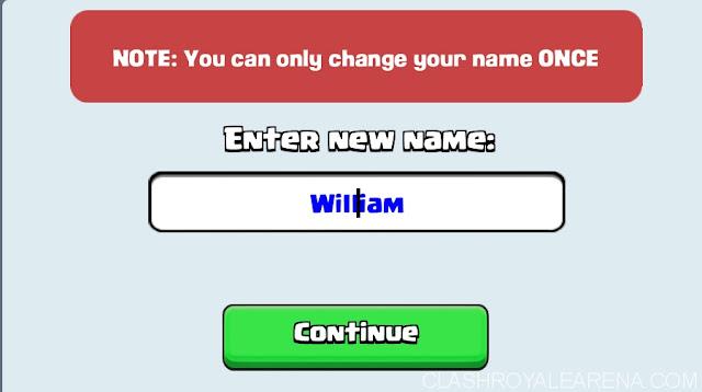 cara mengganti nama clash royale, cara mengganti nama clash royale berkali kali, cara mengganti nama akun clash royale lebih dari 2 kali, cara mengganti nama clash royale yang sudah tidak bisa diganti lagi.
