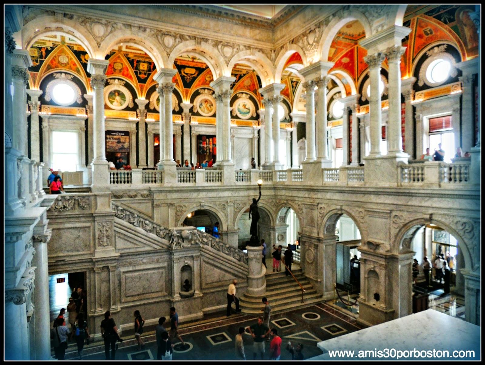 Biblioteca del Congreso de Estados Unidos. Edificio Thomas Jefferson: Gran Vestíbulo