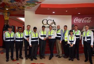Presdir CCAI, Kadir Gunduz saat menyambut Menteri Perdagangan, Pariwisata dan investasi Australia Steven Ciobo