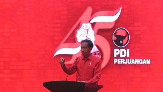 Jokowi Tiba-tiba Berhenti Pidato di HUT PDIP Saat Mendengar Suara Azan