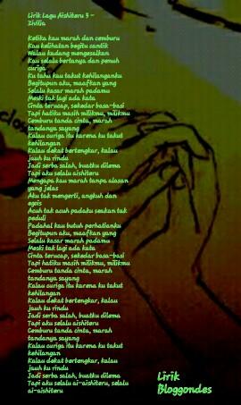 Lirik Lagu Aishiteru 3 : lirik, aishiteru, Lirik, Zivilia, Aishiteru, Lengkap, Dengan, Gambarnya, Bloggondes