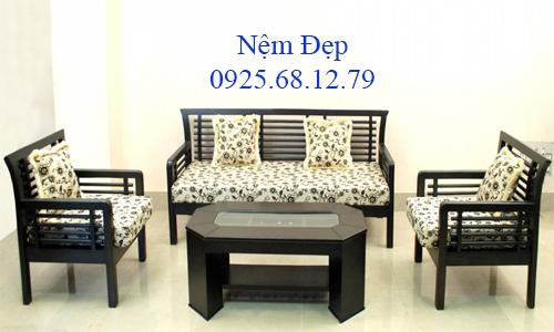 bọc nệm ghế sofa gỗ 013