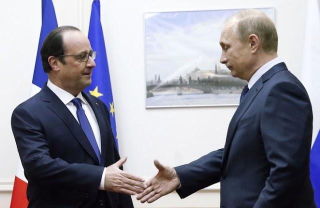 Βλ. Πούτιν - Φρ. Ολάντ: «Κοινός εχθρός ο ISIS»