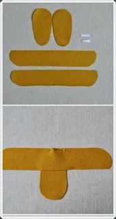 Keçe Kumaştan Bebek Patik Yapımı, Resimli Açıklamalı 1