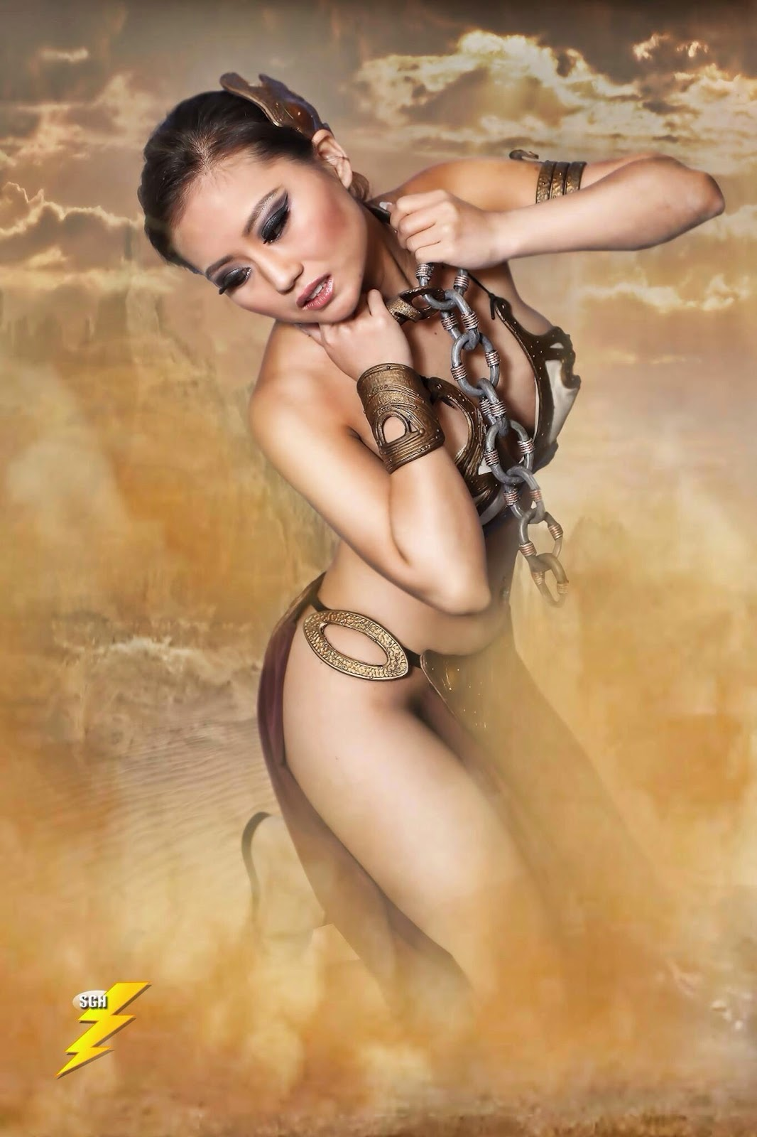 Slave Leia Cosplay 3, posted on Wednesday,06  August 2014'